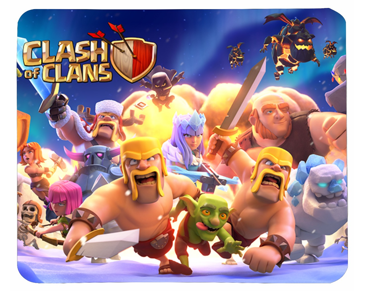 Clash Of Clans Printed Mouse Pad standard size 9 by 7 inch Clash Of Clans Printed Mouse Pad